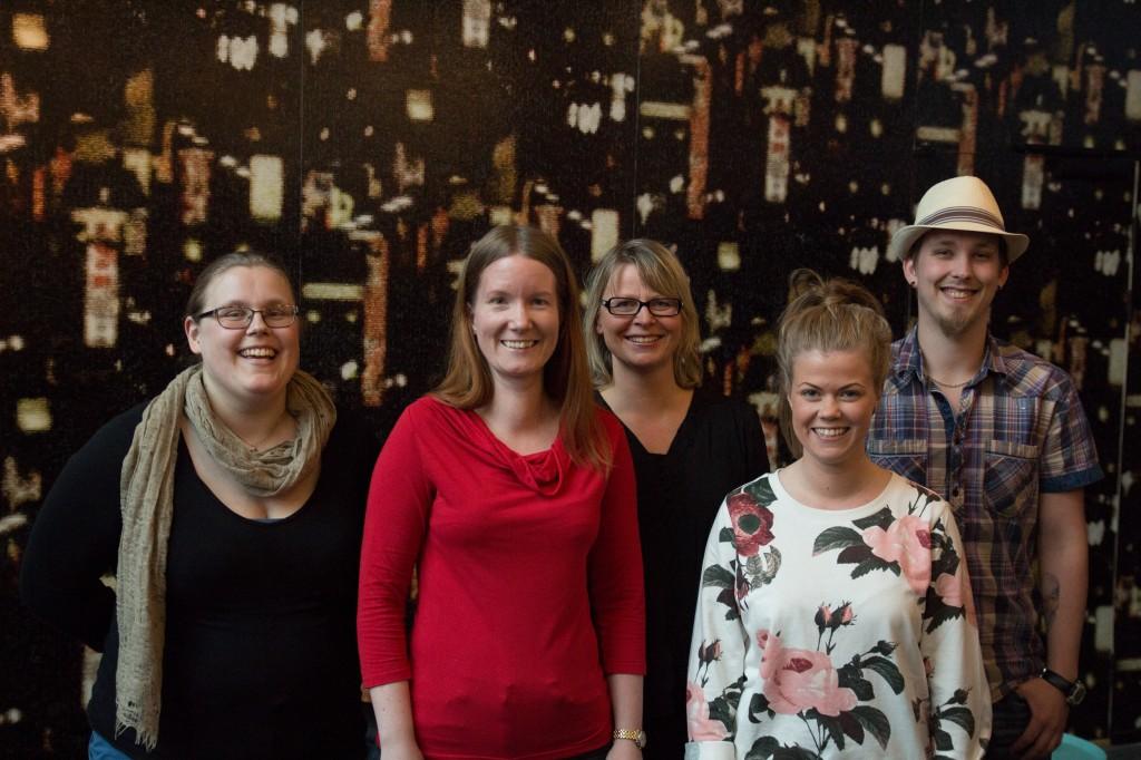 Styret fra venstre: Gjertrud, Synne, Vigdis, Marie Louise og Jan-Egil. Foto: Kristin Storrusten